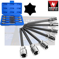 7pc 3/8 DRIVE EXTRA LONG TORX BIT SOCKET SET NEIKO