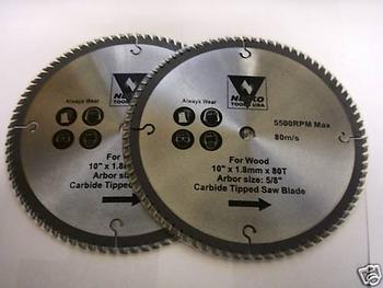 2 10 NEIKO CIRCULAR TABLE MITER SAW BLADES CARBIDE 80T