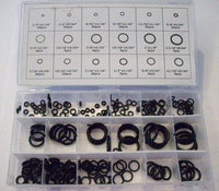 225pc O-RING ASSORTMENT RUBBER SAE HYDRAULIC AUTOMOTIVE PLUMBING