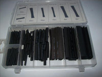 127pc HEAT SHRINK TUBING WIRE WRAP ASSORTMENT 7 SIZES