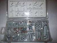 240pc ZINC METRIC NUT & BOLT LOCK WASHER ASSORTMENT